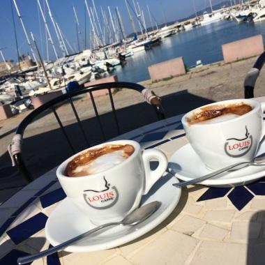 Cappuccino on the marina