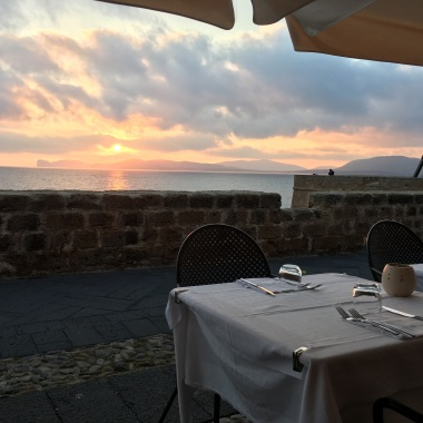 Sunset views from dinner