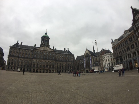 Dam Square looking especially gloomy