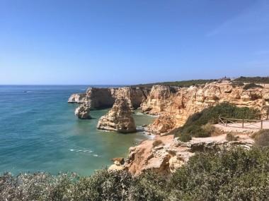Praia da Marinha from above