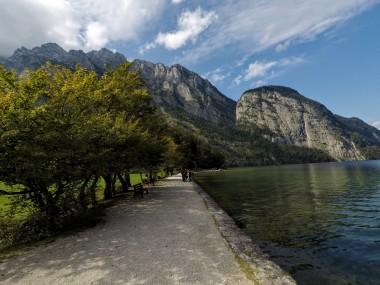 The trail around the lake