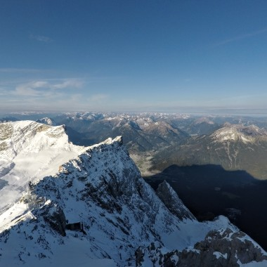 At the top of the Zugspitze