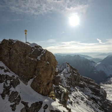 The gold pole is the summit