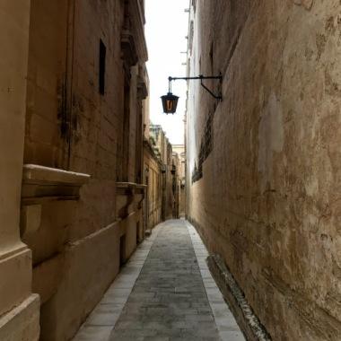 Narrow streets in Mdina