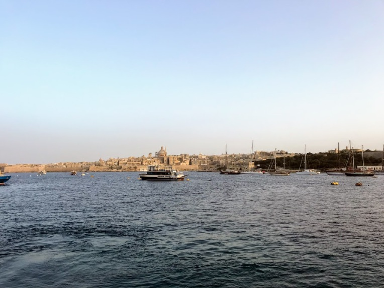 Looking back on the city from the Valletta-Sliema Ferry