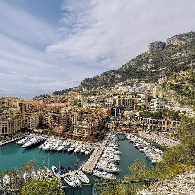 Overlooking marina in Monaco