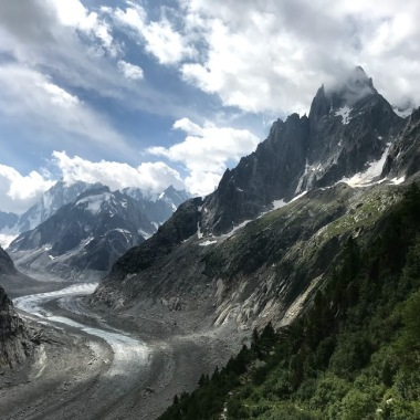 This valley was once completely covered in ice
