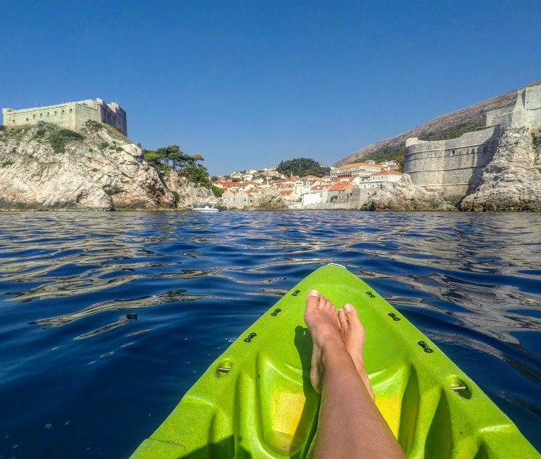 Kayaking by the fortress