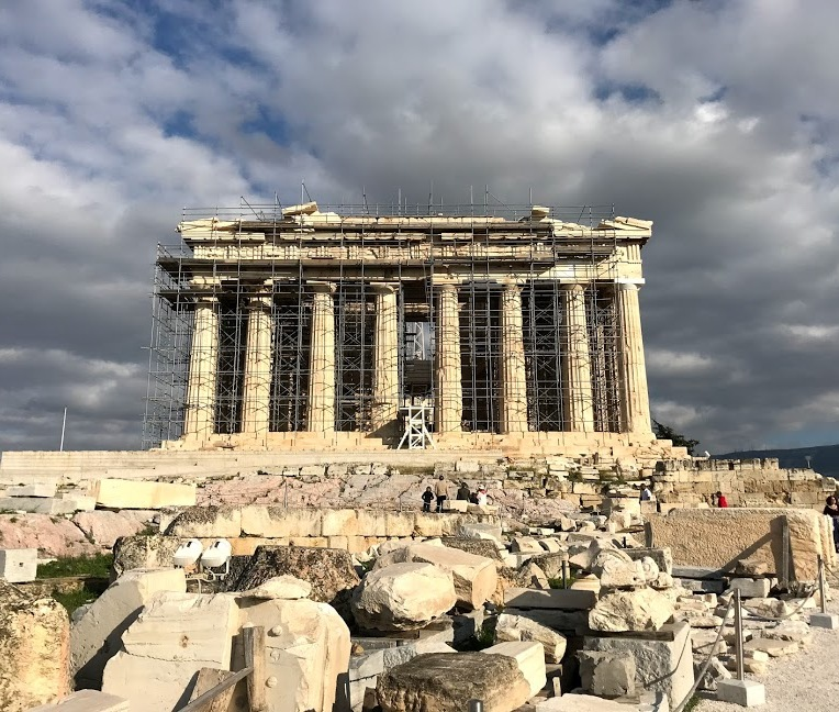 Parthenon and scaffolding