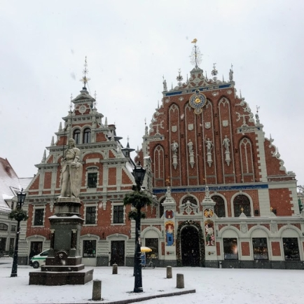 Beautiful square in Riga