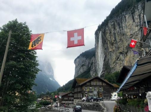 Cute town and Staubbach Waterfall